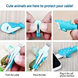 DLseego Compatible iPhone Cable Protector Charger Saver Cable Chewers Cable Cute Animal Bite Cable Accessory-6 Pack