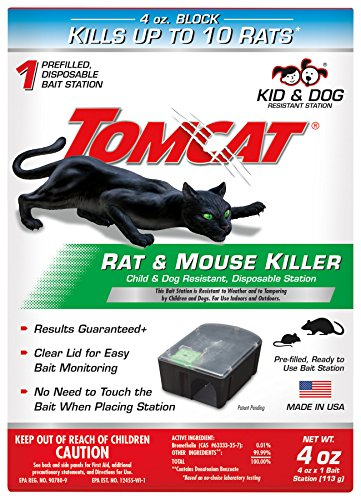 (Tomcat Rat and Mouse Killer Disposable Station for Indoor/Outdoor Use - Child and Dog Resistant (1 Station))