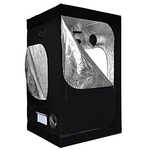 "51iqlO3xflL - LAGarden 48x48x78"" Hydroponics Grow Tent 100% Reflective Diamond Mylar Indoor Plant Growing Non Toxic Room w/ Window"
