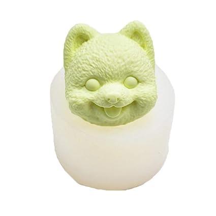 Grandnessry Cabeza de Perro 3D Decoración de Yeso Molde de Silicona Yeso Aromaterapia Colgante Molde de