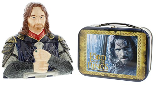 - Westland The Lord of The Rings Aragorn Bundle - Ceramic Cookie Jar and Tin Lunchbox