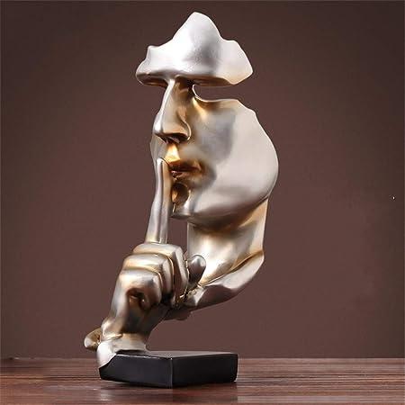 Amazon De Muzidp Abstrakte Gold Menschen Skulptur Statue Harz Kreative Denker Statuen Vintage Deko