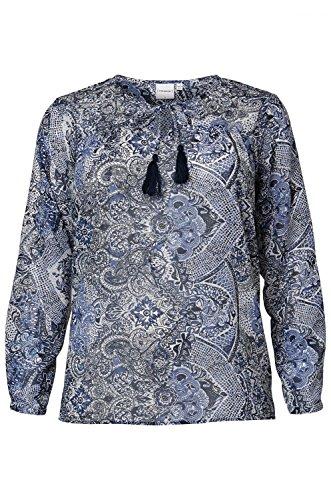 Junarose Damen Bluse blau langarm tolles Design Gr.44 46 48 Farbe blau, Größe 44
