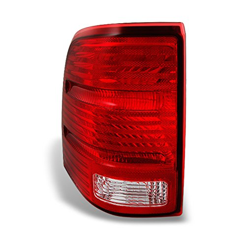 (For Ford Explorer SUV Red Clear Lens Rear Tail Light Taillamps Brake Lamps Driver/Left Side Replacement)
