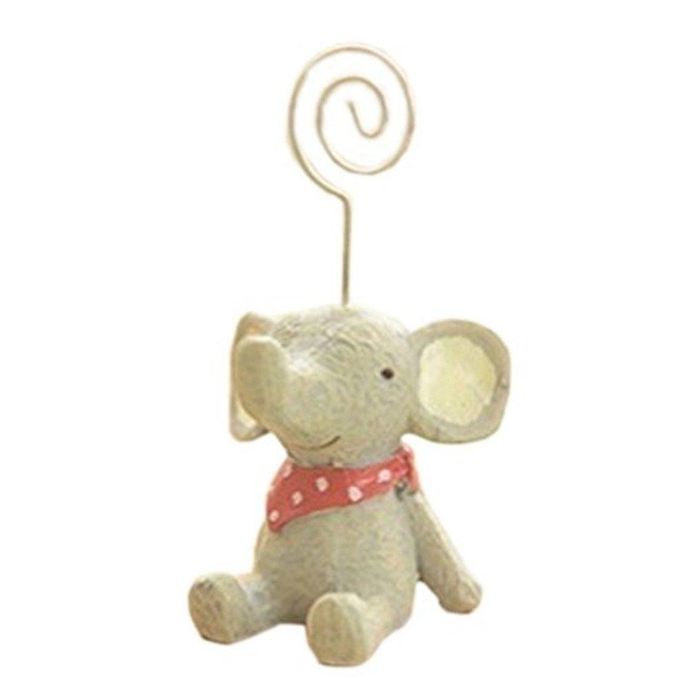 Kangkang@ Cute Pretty Elephant Memo/Message/Photo Holder Clip Office Desk Accessories