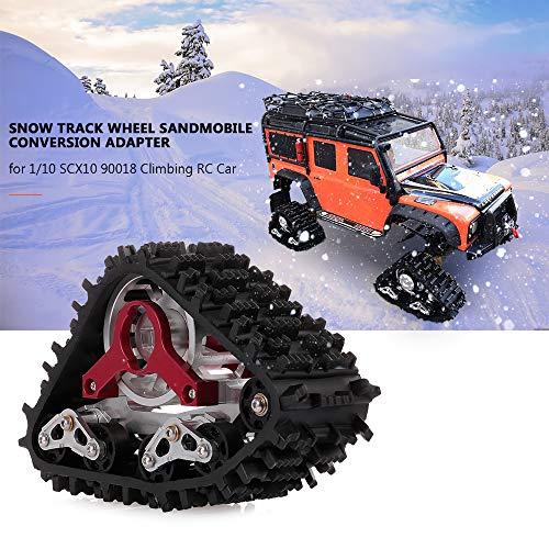 Walmeck- Snow Track Wheel Snow Tire Sandmobile Conversion Adapter for 1/10 SCX10 90018 Climbing RC Car