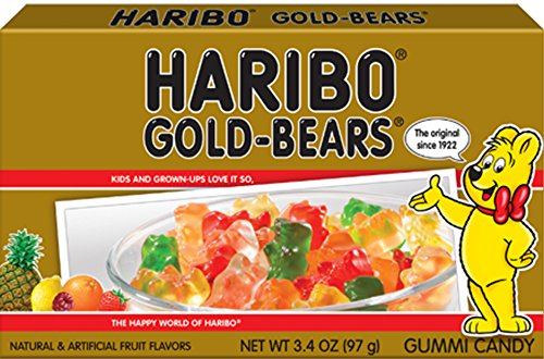 Haribo of America Gold-Bears Theater Box, 3.4 Ounce, 12 Count (12 Theater Boxes)