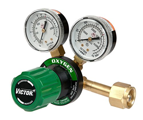 (Victor Technologies 0781-9400 G250-150-540 Medium Duty Single Stage Oxygen Regulator, 150 psig Delivery Range, CGA 540 Inlet Connection)