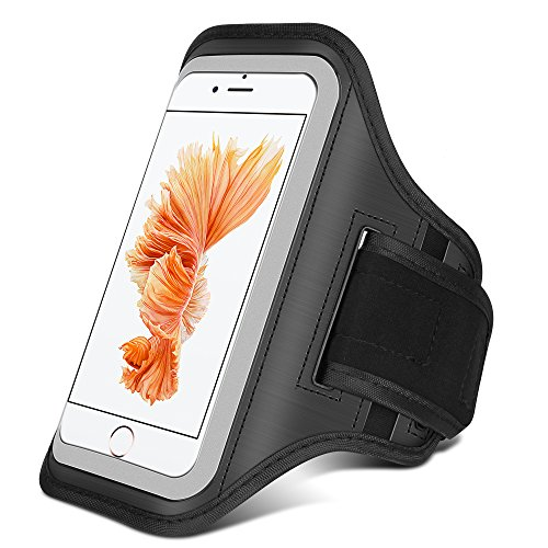 Cheap Armbands Ahutoru Water Resistant Sports Armband with Key Holder for iPhone 7, 6/6S..
