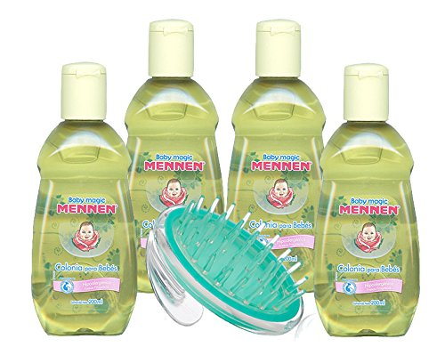 Amazon.com: Baby Magic Mennen Cologne - Colonia Mennen Para Bebe, 200 ml (4Pack) with Baby Massage Brush: Beauty