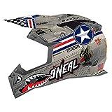 O'Neal 5 SRS Unisex-Adult Off-Road-Helmet-Style Wingman Helmet (Metal/White, Large)
