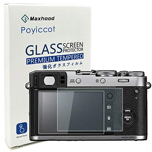 X-E2S Tempered Glass Screen Protector Optical 9H Hardness 0.3mm Ultra-Thin DSLR Camera LCD Tempered Glass for Fujifilm X-100T X100T X-E2 X100F Digital Camera Maxhood Fujifilm X100F
