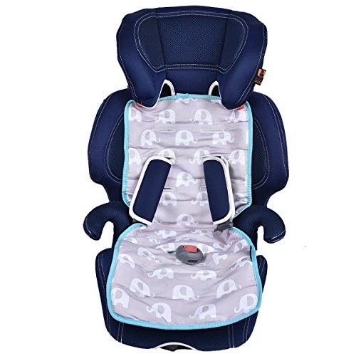 Universal Baby Stroller Seat Liner Infant Car Cushion 100 Cotton Padded White SLEEPING LAMB