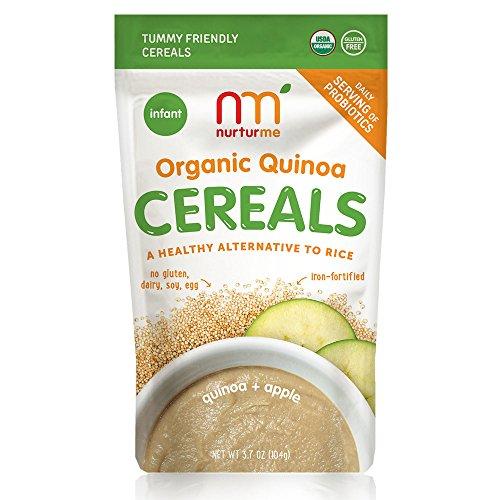 NurturMe Organic Infant Cereals, Quinoa + Apple, 3.7 Ounce ()