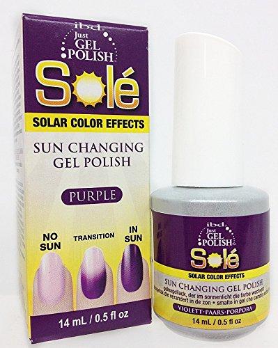 IBD Just Gel Polish Sole Solar Color Effects Purple, Purple,