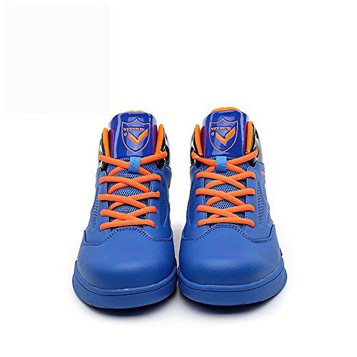 ASHION Zapatos de baloncesto Ocio Adolescentes Chicos Adolescentes Running Sneakers Azul