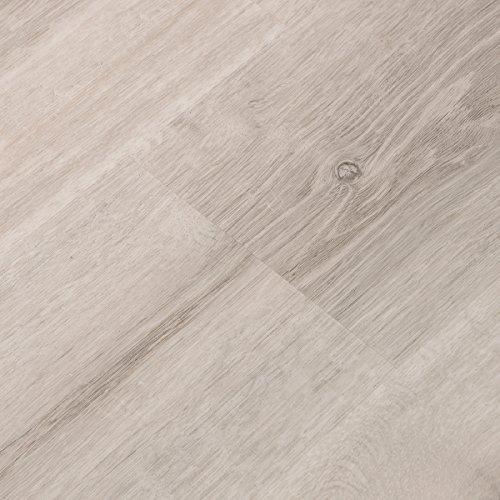 Cali Bamboo - Cali Vinyl Plus Cork-Backed Vinyl Floor, Extra Wide, White Aspen Wood Grain - Sample White Cork Flooring