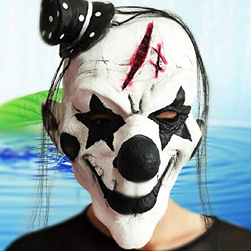 Laz-Tipa - Black and White Scary Clown Mask