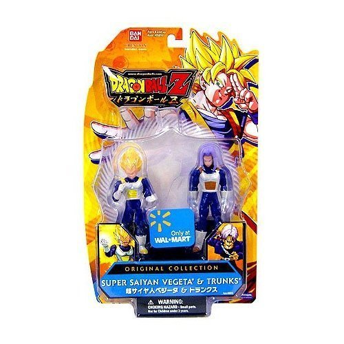 Dragonball Z Bandai Original Collection 4.5 Inch PVC Figure 2-Pack SS Vegeta and Trunks (Ss Trunks)