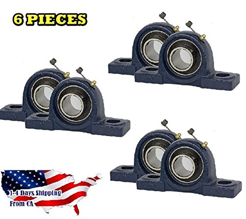 6 Pieces- UCP204-12, 3/4 inch Pillow Block Bearing Solid Base,Self-Alignment, Brand New from Jeremywell