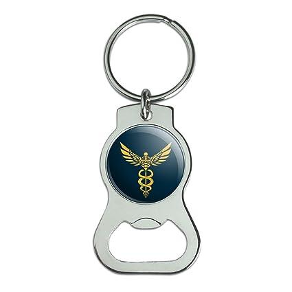 Caduceo símbolo Médico Doctor Enfermera EMT botella Cap ...
