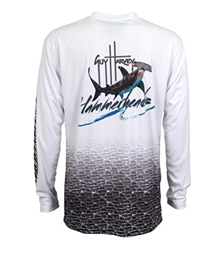 Guy HVEY Mens Hammerhead L/S, Color: White, Size: L (MH62535-WHT-L)