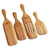 Wooden Bamboo Spurtles Kitchen Tools-Cookware Set Of 4 Eco-Friendly Kitchen Cooking Accessories
