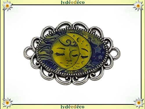 Regali Natale Per Coppia Di Amici.1 Magnete Sun Moon Blu Giallo Regali Personalizzati Natale Amici