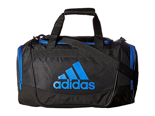 adidas Defender II Duffel Bag (Small, Black/Blue)