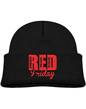 Cute RED Friday Remember Everyone Printed Toddlers Baby Winter Hat Beanie