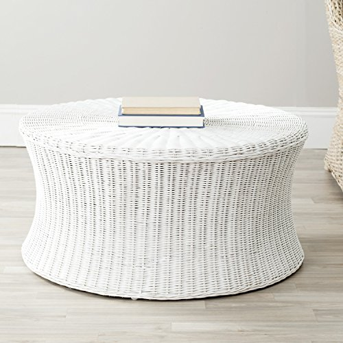 Safavieh Home Collection Ruxton Ottoman, White ()