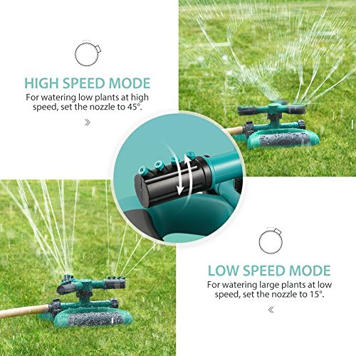 Sprinkler, Lawn Sprinklers Oscillating Water Irrigation Sprayer for Garden with Automatic 360 Rotating Head, Triple Arms & Easy Connection - Hose Sprinkler for Yard & Patio by Joygardin (Image #4)