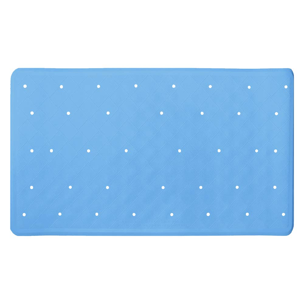 ANSIO Bath Mat Bathtub Non-Slip Anti Mould Rubber Shower Mat 40 x 70 cm / 15.8 x 27.7 inches - Blue