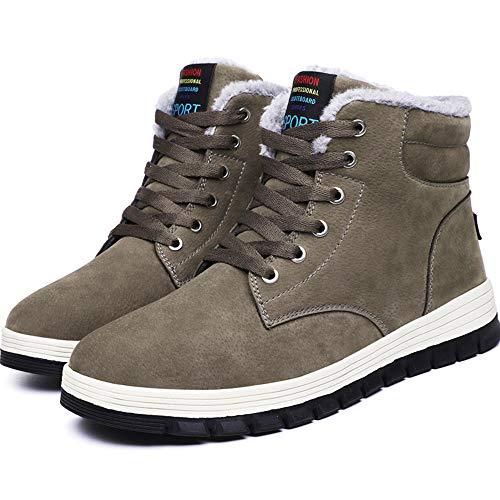 homme Gris Neige Randonnée Outdoor Fourrure Eu 48 Boots De Chaussures Sneakers Hiver Antidérapant Bottes 39 Chaudes nwqZIFf