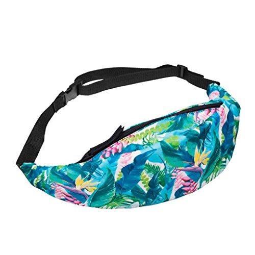 HN Sports Hiking Running Belt Waist Bag Pack For Women Fashion Pouch Zip