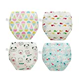 Skhls Little Girls' Printing 4 Pack Training Panies, 2T