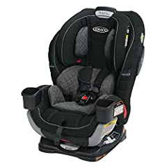 Children are safer riding rear-facing and should ride rear-facing until they reach the maximum rear-facing height or weight rating for their seat. Graco Extend2Fit 3-in-1 Car Seat featuring TrueShield Technology features a 4-position extensio...