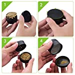 "OMorc Spice Herb Grinder, 4 Piece 2"" Grinder with Pollen Scraper, 4-in-1 Premium Zinc Alloy Spice Herb Grinder with Razor-sharp Teeth and Pollen Catcher (Black) 13 Solid and Sturdy Construction. Crafted with premium zinc alloy, our 4-layer and 3-chamber designed herb grinder ensures optimal performance and exceptional durability for constant use. Efficient Grinding and Filtering. There are up to 30 sharp teeth on the top layer and 24 sharp teeth on the second layer for crushing dry herbs smoothly and efficiently. The metal fine mesh screen filter separates the chunky herbs from the finer particles. Easy Collection. In the bottom catcher, you can collect fine particles with the provided scraper that helps reduce waste. Moreover, the scraper helps clean the leftover herbs."