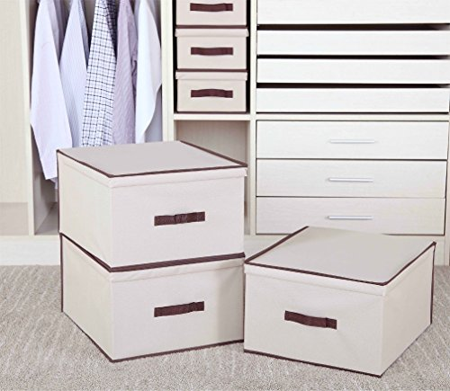 3-pack Jumbo Canvas Storage Bins with Lids