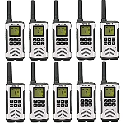 Retevis RT45 Walkie Talkies Rechargeable Long Range FRS VOX AA Battery Flashlight Call Tone Roger Beep Sub-Ch Monitor Security Two Way Radio(10 Pack)