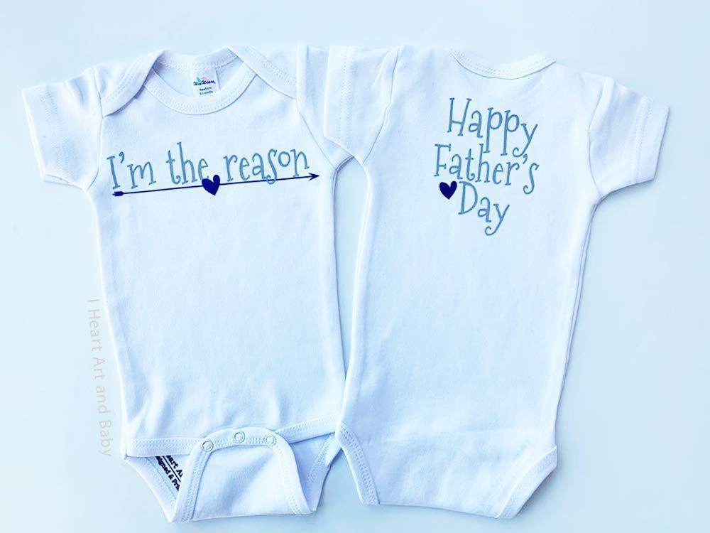6-12 Months White New Dad Gift Gift For Dad from Baby Short Sleeve Fathers Day Baby Outfit