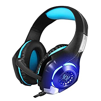 aooking Gaming Auriculares con cable estéreo de 3,5 mm aislamiento del ruido OVER-