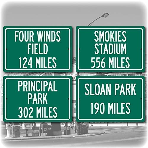 Amazon com: Personalized Highway Distance Sign: Cubs Stadium