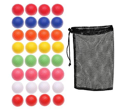 Fanovo Foam Golf Balls - Practice Golf Balls - Pet Balls, Light Soft Elastic Training Multifunction Sport Balls (8 Color -32 Pack)