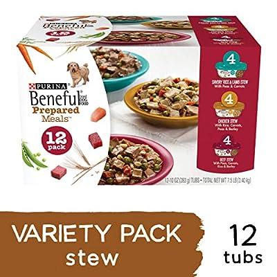 Purina Beneful Gravy Wet Dog Food Variety Pack, Prepared Meals Stew - (12) 10 oz. Tubs