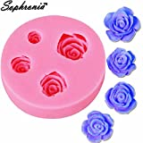 Star-Trade-Inc - Rose Silicone Mold Wedding Cake Decorative Chocolate Cookies Fimo Polymer Clay Resin Diy Baking Fondant Mold m779