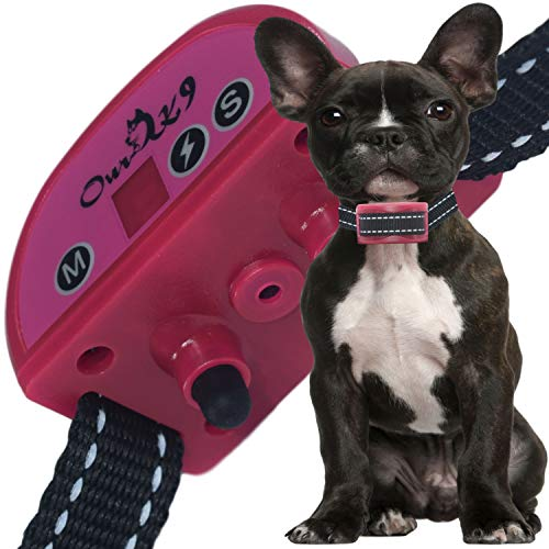 (Our K9 Training Made Easy - Anti - Bark Collar - Sound (Beep) or Silent (Ultrasonic) & 7 Levels of Adjustable Vibration or Shock, Pain-Free and Ultra Safe Cherry)