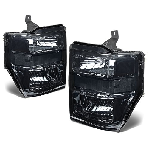 For Ford Super Duty 2nd Gen F250-550 Pair OE Style Smoked Lens Clear Corner Headlight (Clear Corner Lenses Lights)