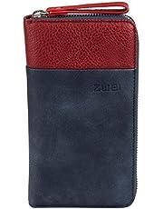 Zwei Eva EV2 Reißverschluss Geldbörse Portemonnaie Geldbeutel Brieftasche,blau