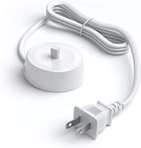 Pwr Charger for Oral-B Toothbrush 3757 Travel Charger - USA 2y Warranty Extra Long Power Cord 7040-132 Charging Base Compatible Replacement